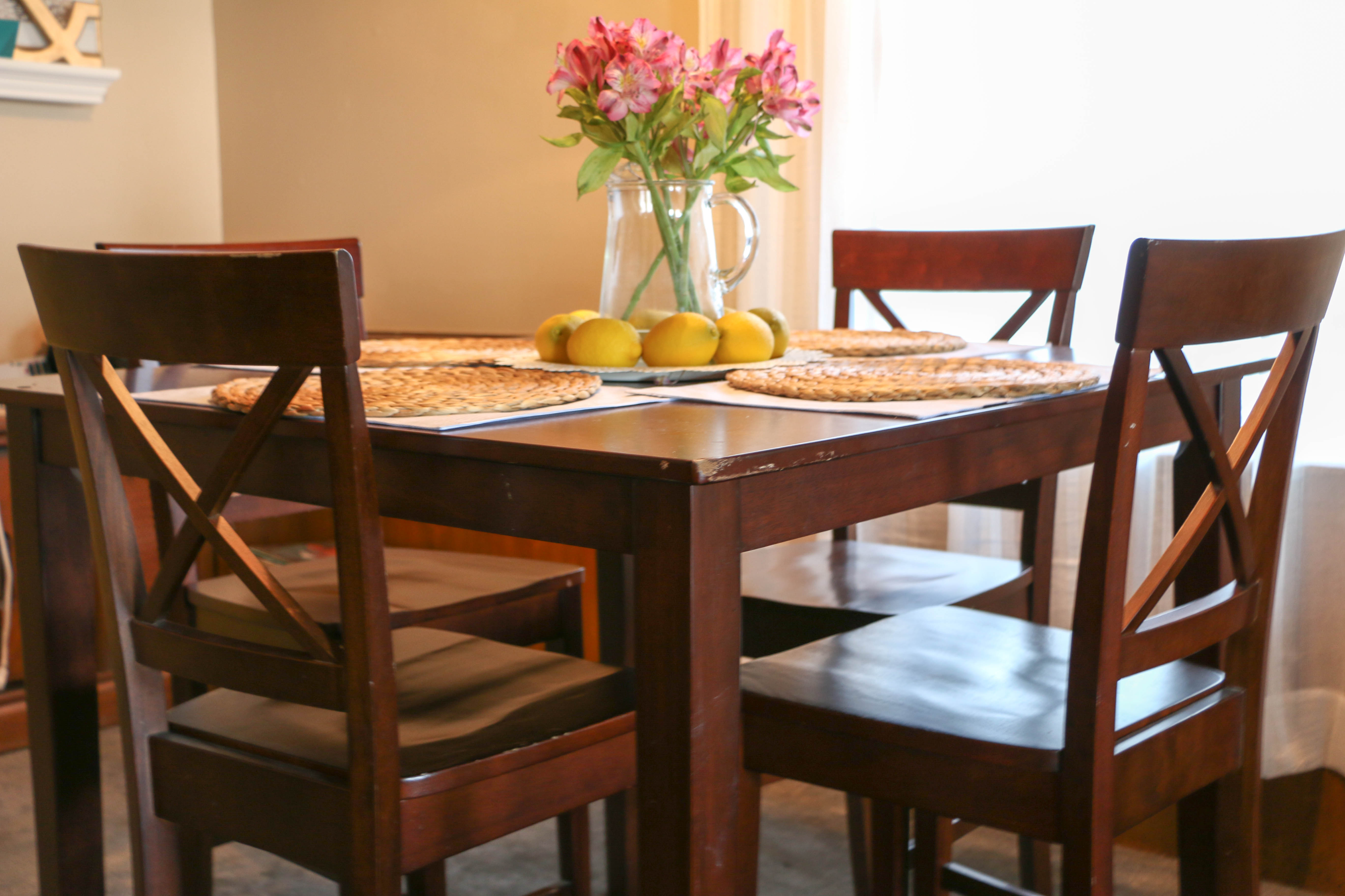 Dining Room Set Makeover  Thrift Store Dining Set Makeover - Target dining room sets