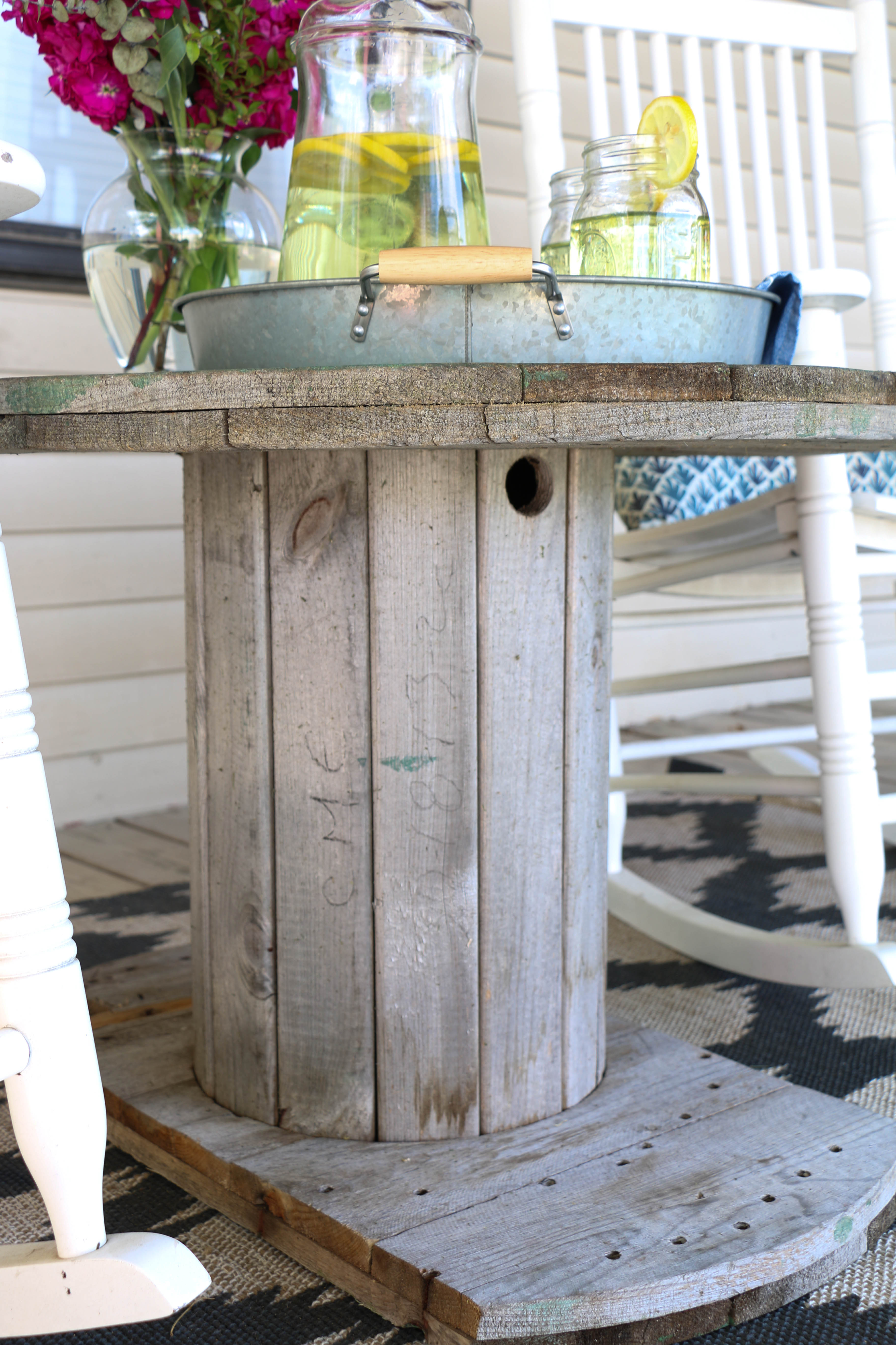 Cable Spool Tables. Weekend Project Upcycle An Old Wire Spool With ...